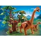Játék: Playmobil 5231 - Kicsinyét védő Brachioszaurusz