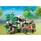 Játék: Playmobil 5414 - Pandacsalád a bambuszligetben
