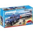 Játék: Playmobil 5187 - Rendőrdzsip motorcsónakkal