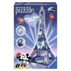 Játék: 3D puzzle - Eiffel torony, Mikiegér és Minnie egér Edition, 216 db
