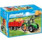 Játék: Playmobil 6130 - Bálaszállító traktor