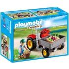 Játék: Playmobil 6131 - Elölplatós traktor