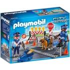 Játék: Playmobil 6924 - Rendőrségi útlezárás