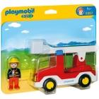 Játék: Playmobil 6967 - Tűzoltásra készülök szirénázva, létrás kocsival
