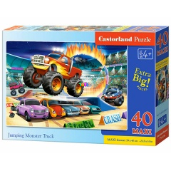 Puzzle - Jumping Monster Truck, 40 db